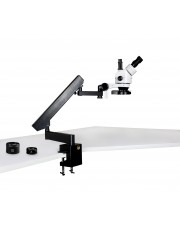 VS-7FZ-IFR08 Simul-Focal Trinocular Zoom Stereo Microscope - 0.7X - 4.5X Zoom Range, 0.5X & 2.0X Auxiliary Lenses, 144-LED Four-Zone Ring Light