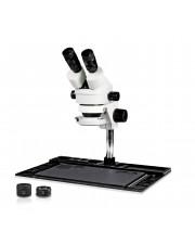 VS-10EZ-IFR07 Binocular Zoom Stereo Microscope - 0.7X - 4.5X Zoom Range, 0.5X & 2.0X Auxiliary Lenses, 144-LED Ring Light