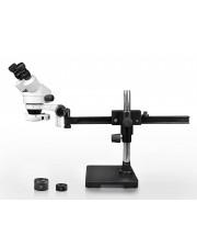 VS-2AEZ-IFR07 Binocular Zoom Stereo Microscope - 0.7X-4.5X Zoom Range, 0.5X & 2.0X Auxiliary Lenses, 144-LED Ring Light