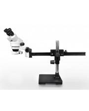 VS-2AE-IFR07 Binocular Zoom Stereo Microscope - 0.7X-4.5X Zoom Range, 144-LED Ring Light