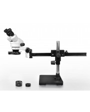 VS-2AEZ-IFR08 Binocular Zoom Stereo Microscope - 0.7X-4.5X Zoom Range, 0.5X & 2.0X Auxiliary Lenses, 144-LED Four-Zone Ring Light