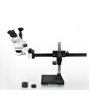 VS-2AFZ-IFR07-3N Simul-Focal Trinocular Zoom Stereo Microscope - 0.7X-4.5X Zoom Range, 0.5X & 2.0X Auxiliary Lenses, 144-LED Ring Light, 3MP Digital Eyepiece Camera