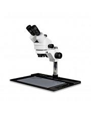 VS-10F Simul-Focal Trinocular Zoom Stereo Microscope - 0.7X - 4.5X Zoom Range