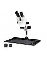VS-10EZ Binocular Zoom Stereo Microscope - 0.7X - 4.5X Zoom Range, 0.5X & 2.0X Auxiliary Lenses