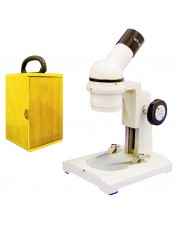 VME0002 Field Trip Microscope, Monocular Head, 10X Eyepiece, Coarse Focusing, Wooden Carrying Case