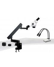 VS-7EZ-IHL20 Binocular Zoom Stereo Microscope - 0.7X - 4.5X Zoom Range, 0.5X & 2.0X Auxiliary Lenses, Dual Gooseneck LED Light
