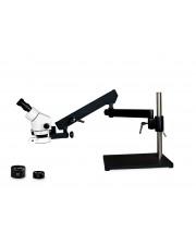 VS-9EZ-IFR07 Binocular Zoom Stereo Microscope - 0.7X - 4.5X Zoom Range, 0.5X & 2.0X Auxiliary Lenses, 144-LED Ring Light