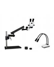 VS-9EZ-IHL20 Binocular Zoom Stereo Microscope - 0.7X - 4.5X Zoom Range, 0.5X & 2.0X Auxiliary Lenses, Dual Gooseneck LED Light
