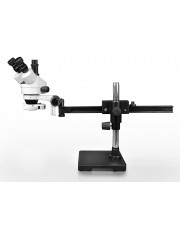 VS-2AF-IFR07 Simul-Focal Trinocular Zoom Stereo Microscope - 0.7X-4.5X Zoom Range, 144-LED Ring Light