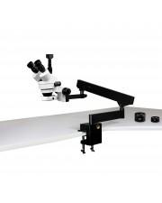 VS-7FZ-IFR07-5N Simul-Focal Trinocular Zoom Stereo Microscope - 0.7X - 4.5X Zoom Range, 0.5X & 2.0X Auxiliary Lenses, 144-LED Ring Light, 5MP Digital CMOS Camera